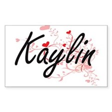 Kaylin Artistic Name Design with Hearts Decal