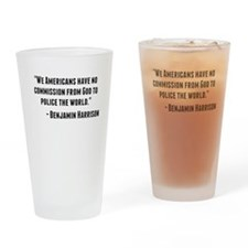 Benjamin Harrison Quote Drinking Glass