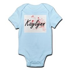 Kaylynn Artistic Name Design with Hearts Body Suit