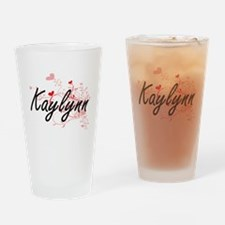 Kaylynn Artistic Name Design with H Drinking Glass