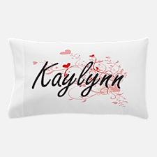 Kaylynn Artistic Name Design with Hear Pillow Case
