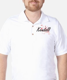 Kendall Artistic Name Design with Heart T-Shirt