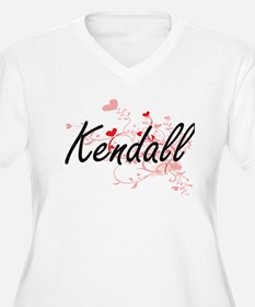 Kendall Artistic Name Design wit Plus Size T-Shirt