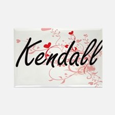 Kendall Artistic Name Design with Hearts Magnets