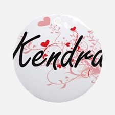 Kendra Artistic Name Design with Ornament (Round)