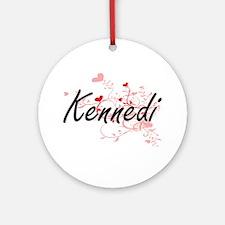 Kennedi Artistic Name Design with Ornament (Round)