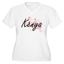 Kenya Artistic Name Design with Plus Size T-Shirt