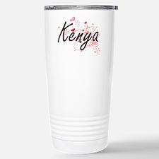 Kenya Artistic Name Des Travel Mug