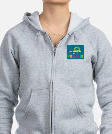 Impossible to possible Fish in a Tree Zip Hoodie