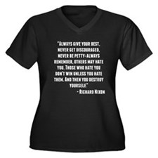 Richard Nixon Quote Plus Size T-Shirt
