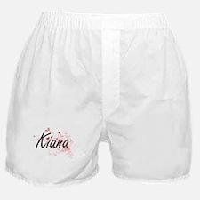 Kiana Artistic Name Design with Heart Boxer Shorts