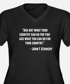 John F. Kennedy Quote Plus Size T-Shirt