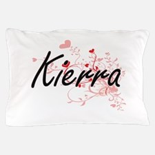 Kierra Artistic Name Design with Heart Pillow Case