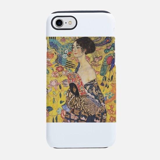 Gustav Klimt Woman with Fan iPhone 8/7 Tough Case