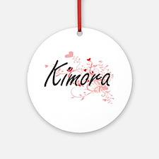 Kimora Artistic Name Design with Ornament (Round)