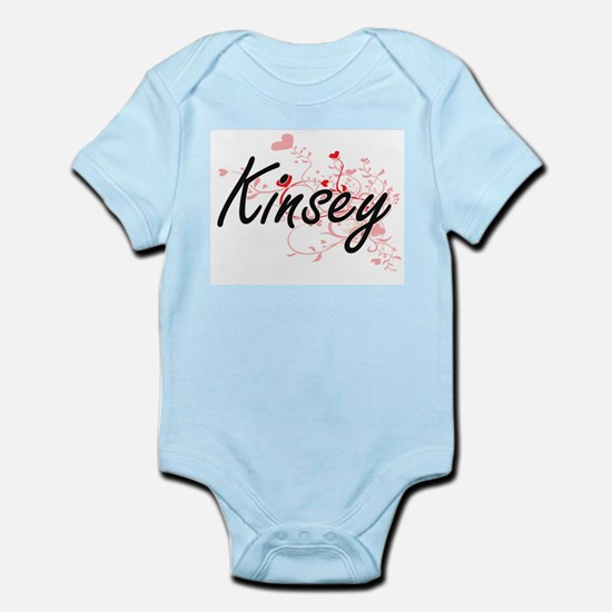 Kinsey Artistic Name Design with Hearts Body Suit