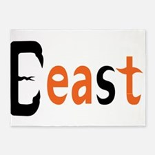 Beast 5'x7'Area Rug