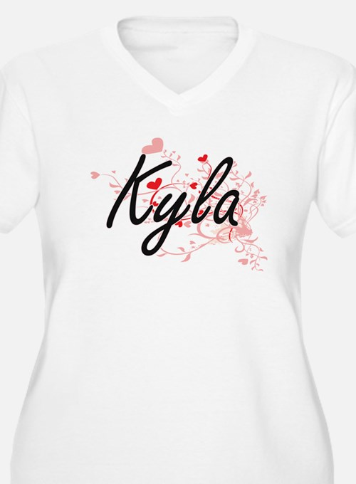 Kyla Artistic Name Design with H Plus Size T-Shirt