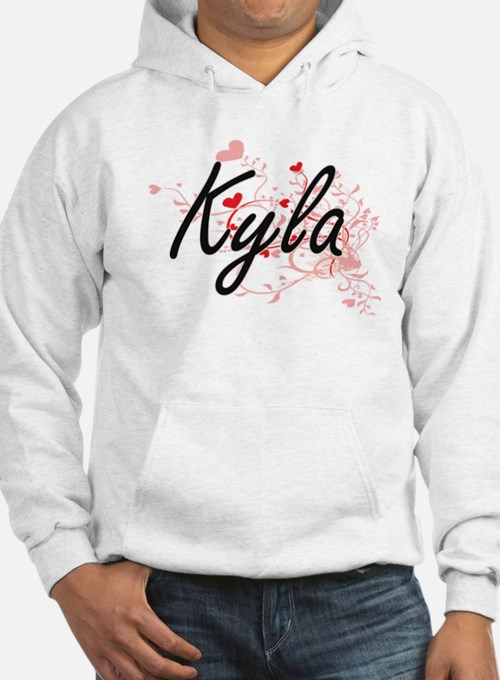 Kyla Artistic Name Design with H Hoodie