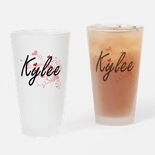 Kylee Artistic Name Design with Hea Drinking Glass