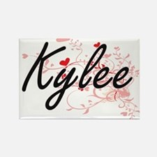 Kylee Artistic Name Design with Hearts Magnets