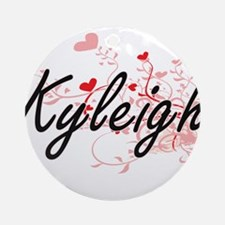 Kyleigh Artistic Name Design with Ornament (Round)