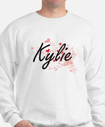 Kylie Artistic Name Design with Hearts Sweater