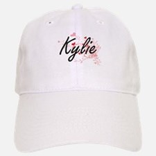 Kylie Artistic Name Design with Hearts Baseball Baseball Cap