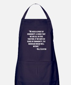 Bill Clinton Quote Apron (dark)