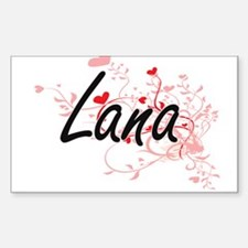 Lana Artistic Name Design with Hearts Decal
