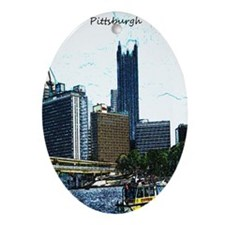 Pittsburgh Sketch Ornament (Oval)