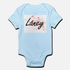 Laney Artistic Name Design with Hearts Body Suit