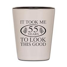 Funny 55th Birthday Shot Glass