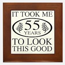 Funny 55th Birthday Framed Tile