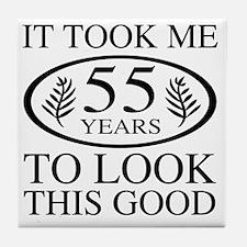 Funny 55th Birthday Tile Coaster