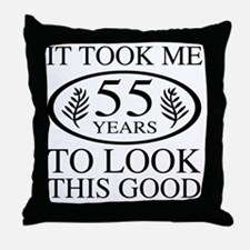Funny 55th Birthday Throw Pillow
