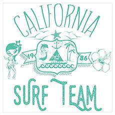 California Surf Team Poster