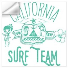 California Surf Team Wall Decal