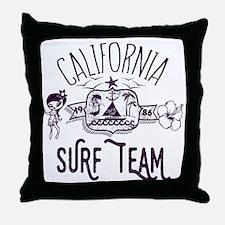 California Surf Team Throw Pillow