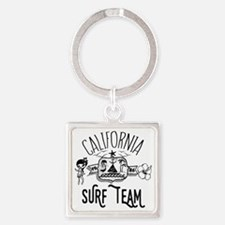 California Surf Team Square Keychain