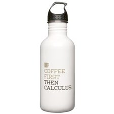 Coffee Then Calculus Water Bottle