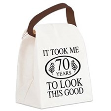 Funny 70th Birthday Canvas Lunch Bag