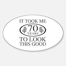 Funny 70th Birthday Decal