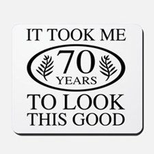 Funny 70th Birthday Mousepad