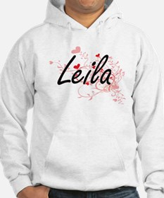 Leila Artistic Name Design with Jumper Hoody
