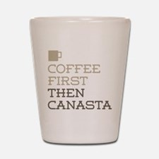 Coffee Then Canasta Shot Glass