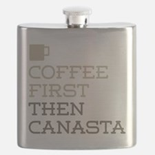 Coffee Then Canasta Flask