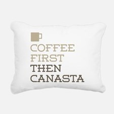Coffee Then Canasta Rectangular Canvas Pillow