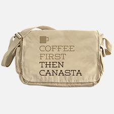 Coffee Then Canasta Messenger Bag