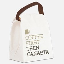 Coffee Then Canasta Canvas Lunch Bag